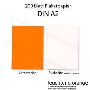 leuchtend oranges DIN A2 Plakat-Papier DINA2