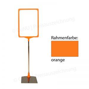 oranger, höhenverstellbarer Plakatständer, Plakatrahmen DINA4