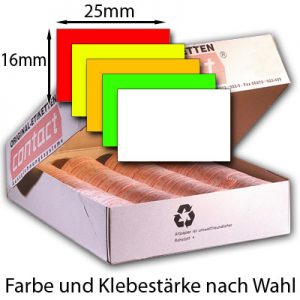 rechteckige Etiketten 25x16mm