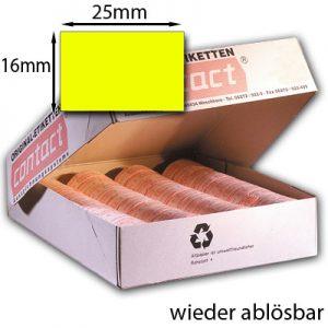 rechteckige wieder ablösbare 25x16mm Etiketten
