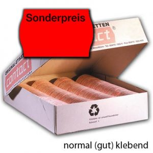 normal gut klebende Sonderpreisetiketten 25x16mm