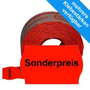 Etiketten für Sonderpreise, Eindruck mittig, 26x16mm