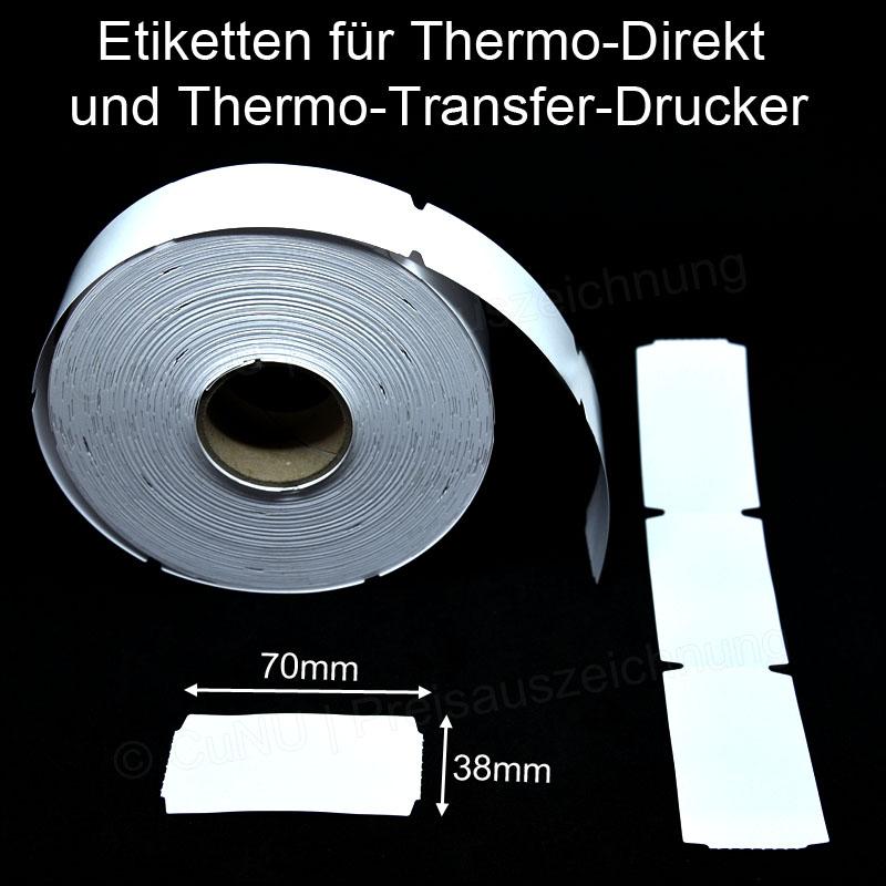 Scanneretiketten für Thermo-Direkt und Thermo-Transfer-Drucker