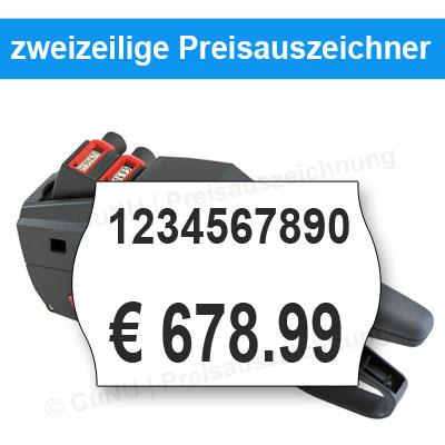 zweizeilige Preisauszeichnungsgeräte