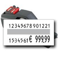 Etikettierer für lange Nummern, contact premium 28.37, Nummern Codierung auf 37x19mm Preisetiketten