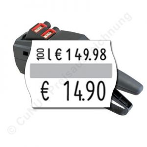 Grundpreisauszeichner für 22x16mm Preisetiketten, contact premium 14.22 GP für Grundpreis Aufdrucke