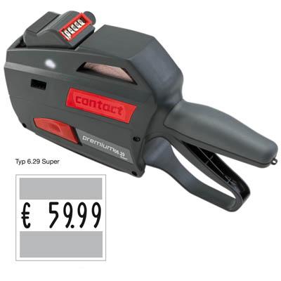 Preisauszeichner mit Großdruck contact premium 6.29 Super