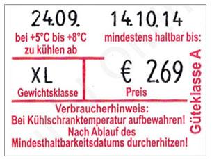 Eierkennzeichnung auf Eierkarton-Etiketten