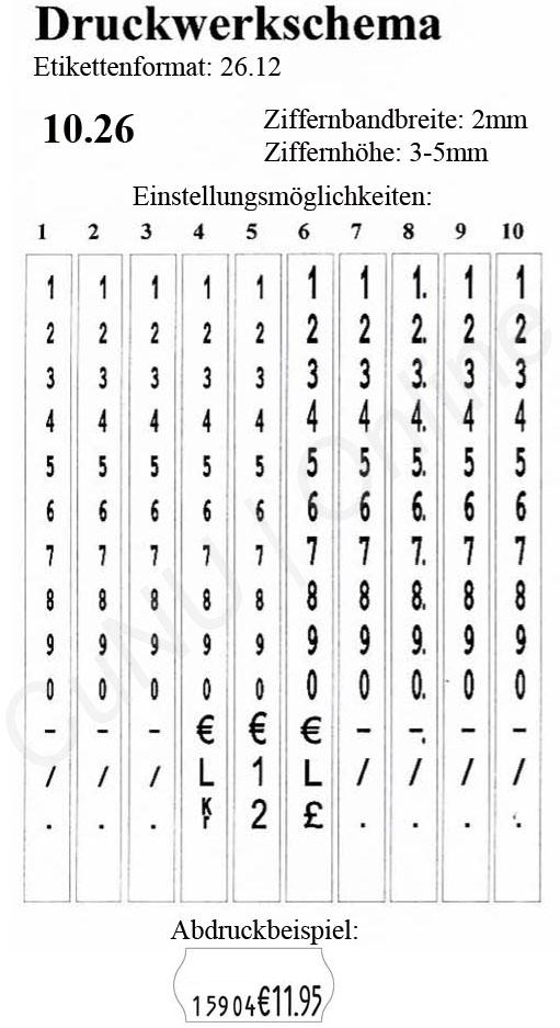 Artikelnummer-Preisauszeichner contact premium 10.26