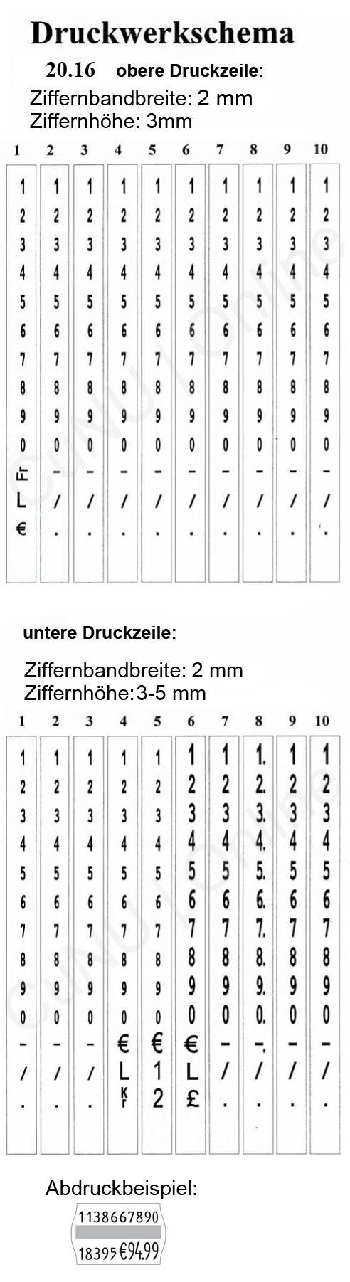 Artikelnummer auszeichnen mit dem contact premium 20.16 Preisauszeichner