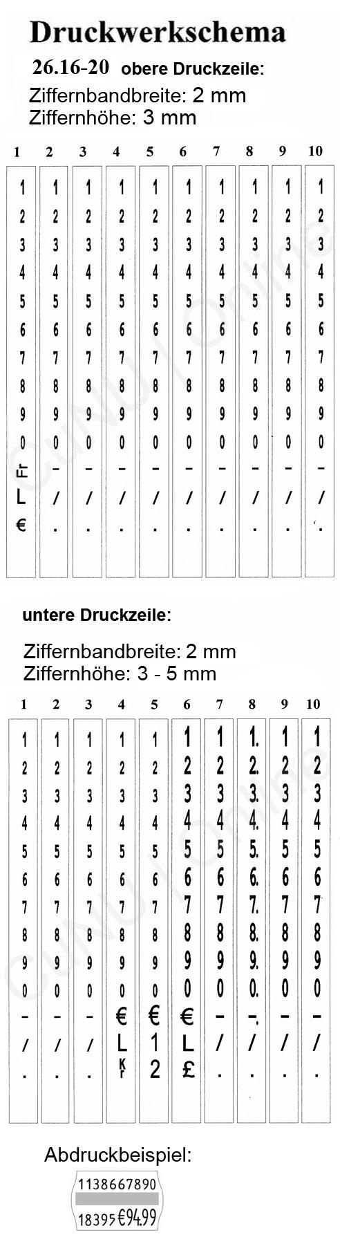 zweizeiliges Etikettiergerät contact 26.16-20