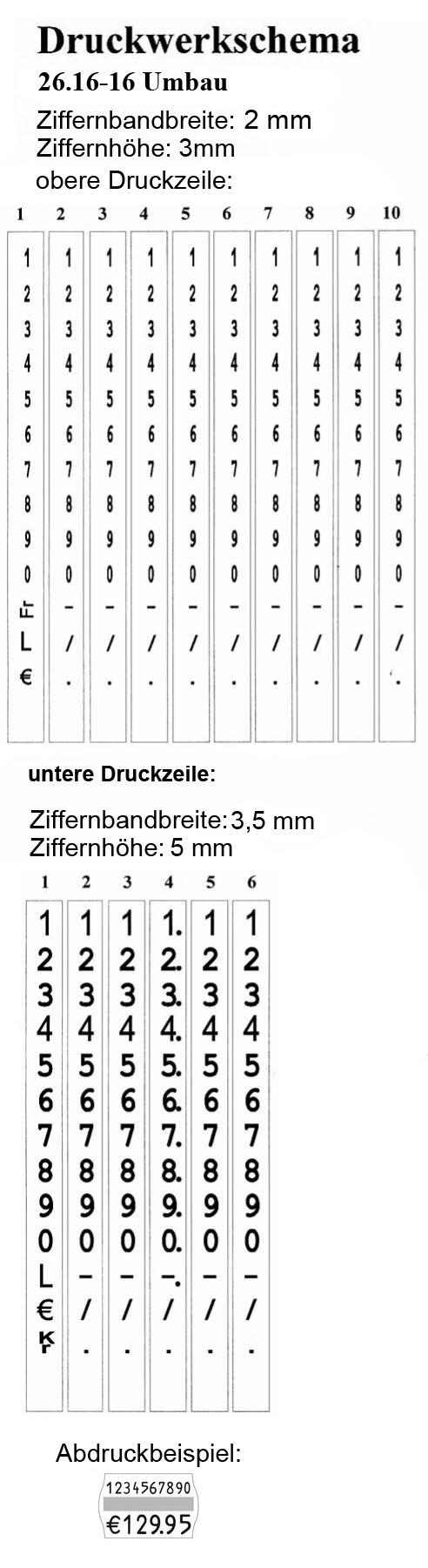Etiketten Auszeichner contact premium 26.16-16 Focus
