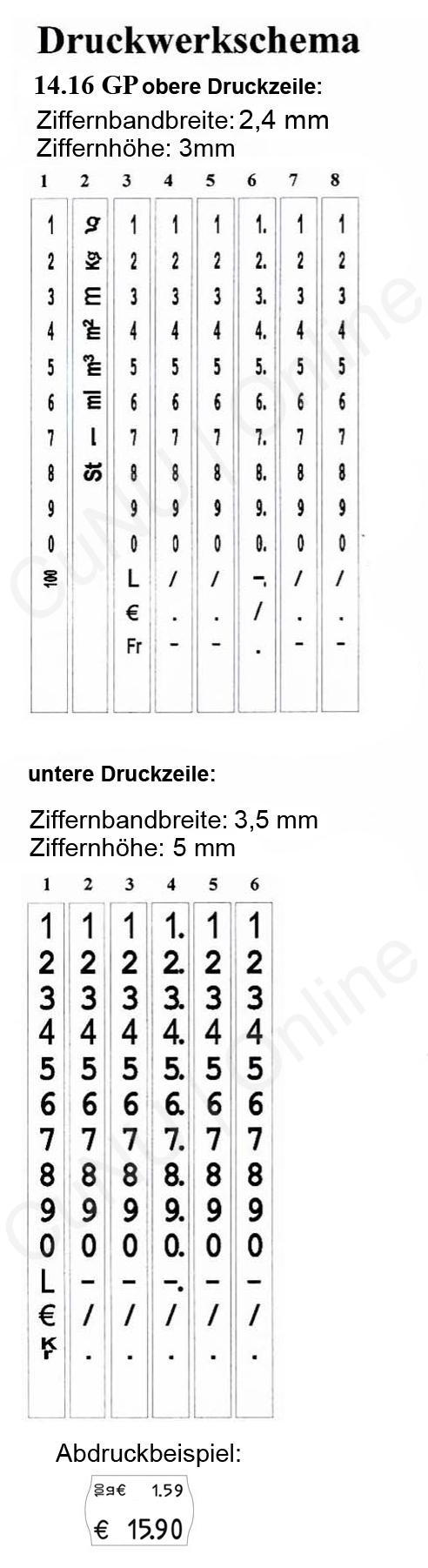 contact Etikettierer für Grundpreise, 14.16 GP