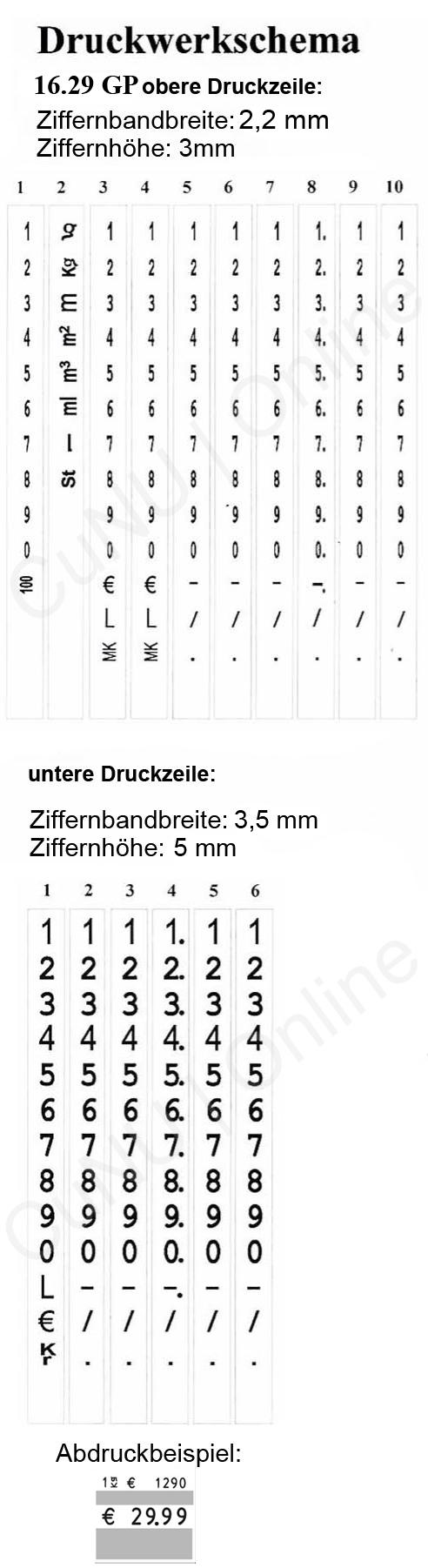 Auszeichner für Grundpreise contact premium 16.29 GP