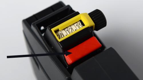 Zusatzstempel, Klischeeschieber für Auszeichner CuNU Modell 2512