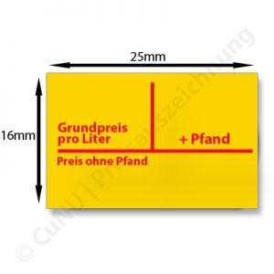 Pfandetiketten, Pfand-Etiketten 25x16mm