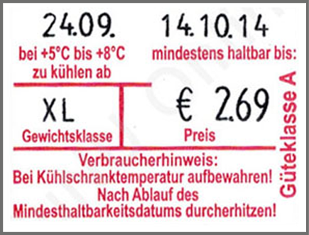 contact Etikettierer für Eier contact premium 3728-24 Focus Eier