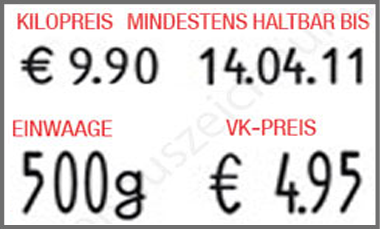 contact Handauszeichner contact premium 29.19 DT für Bäcker und Fleischer