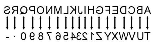 Auszeichner mit Buchstaben - gespiegelt