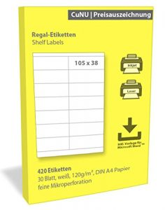 Regaletiketten (Shelf Labels) 70x38mm