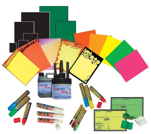 Plakate und Schreibsysteme