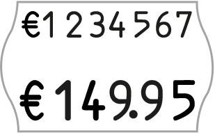 zweizeiliger Hand-Auszeichner für 26x16mm Etiketten