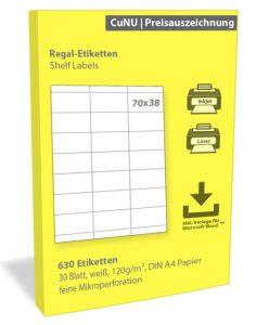 regaletiketten shelf labels 70x38