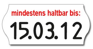Preisauszeichner mit Datumsstempel