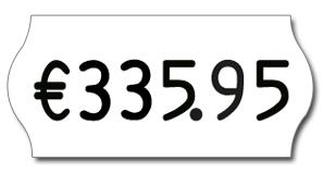 Standard Preisauszeichner für Preisdarstellung