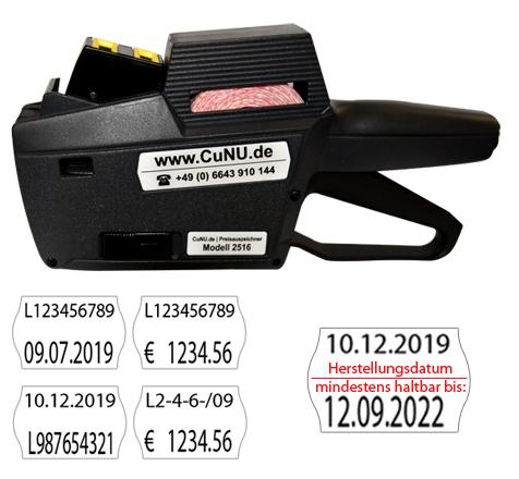 zweizeiliges Etikettiergerät CuNU C2516