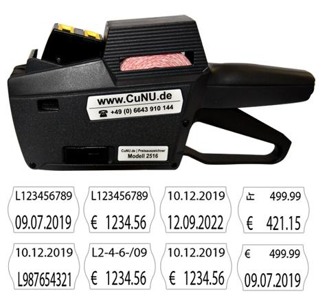 standard preisauszeichner cunu 2516
