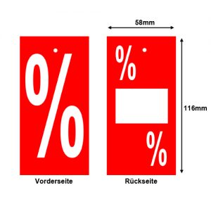 Promotionetiketten % Prozent Prozentzeichen