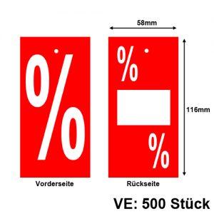 Promotionsetiketten % Prozent Prozentzeichen Etiketten zum Anhängen