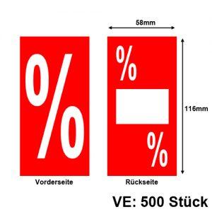 Promotion-Etiketten % Prozent