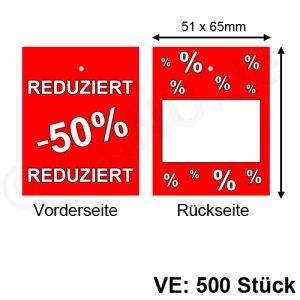 Warenanhänger Kartonetiketten REDUZIERT -50% Prozent
