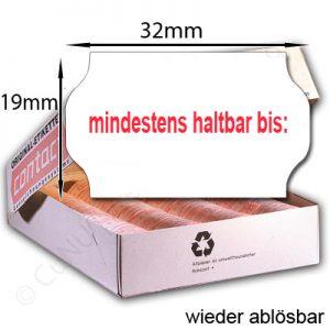 wieder ablösbare MHD Etiketten 32x19mm