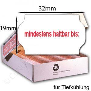 MHD Etiketten für tiefgekühlte Waren, 32x19mm