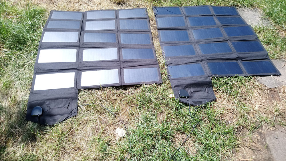 faltbare Solarpanels