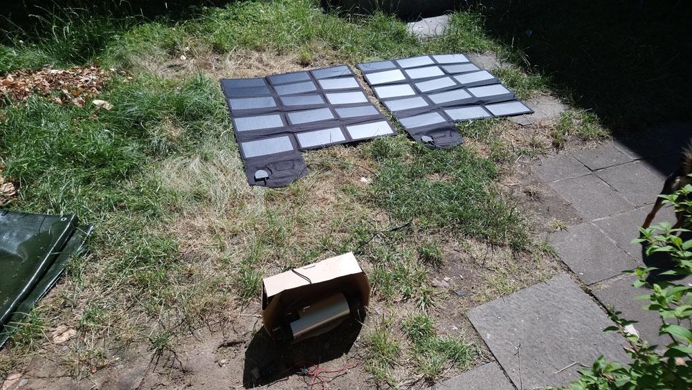 faltbares ALLPOWERS 100W Solar Ladegerät