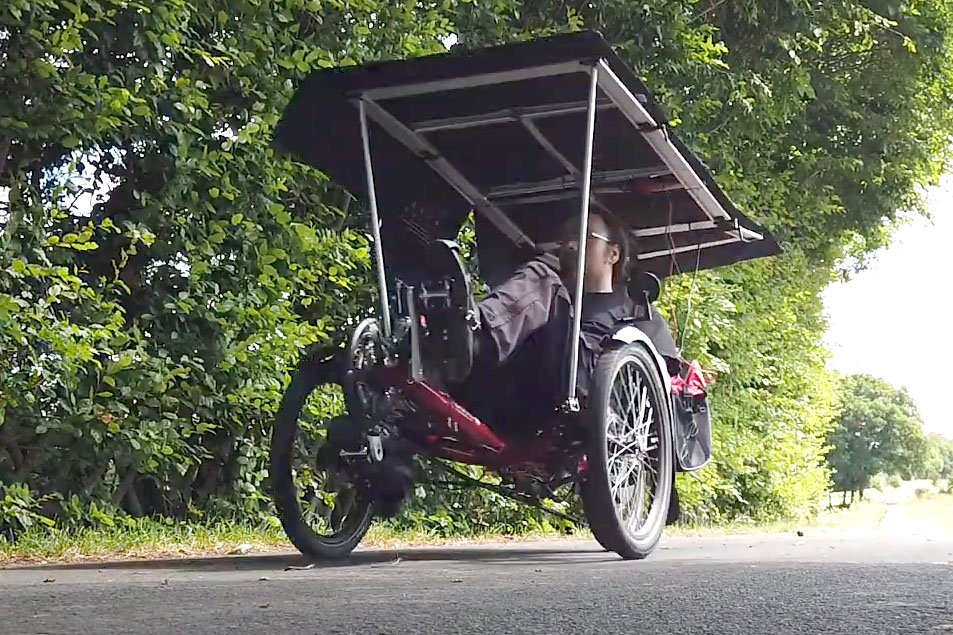 Solar-Fahrzeug Im Einsatz