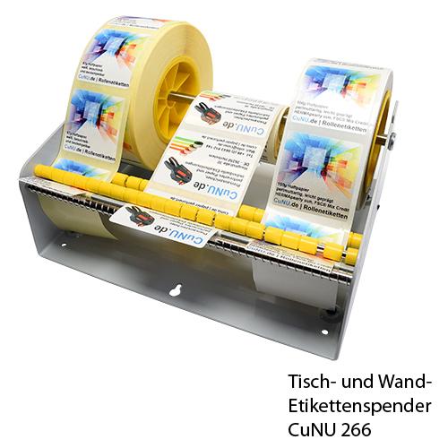 cunu 266 Etikettenspender für Wand und Tisch für mehrere Etikettenrollen