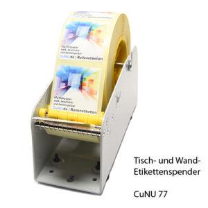 CuNU 77 Etikettenspender für Tisch und Wand