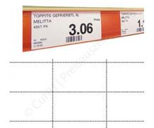 Scannerschienen, nicht klebende Etiketten, perforiertes Papier