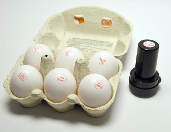 Eierstempel für Packstelle