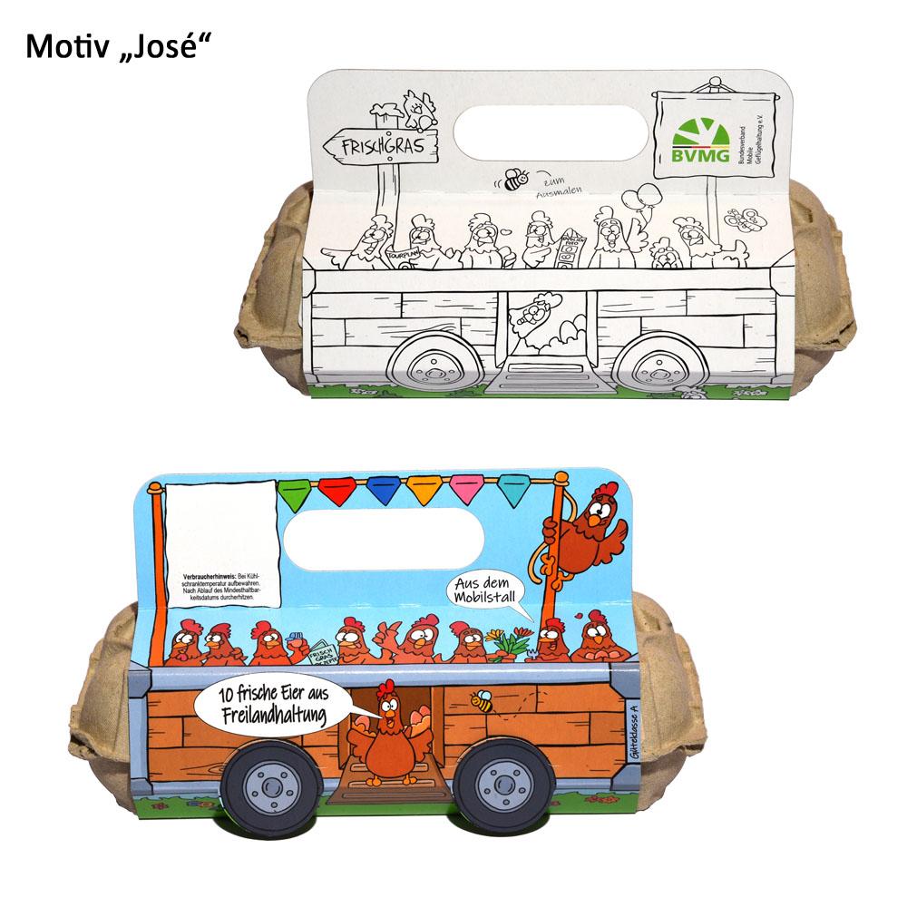 Eierverpackung Motiv José