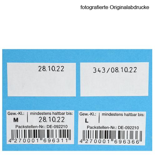 Abdrucke des MHD Auszeichner für Eieretiketten 37x19mm