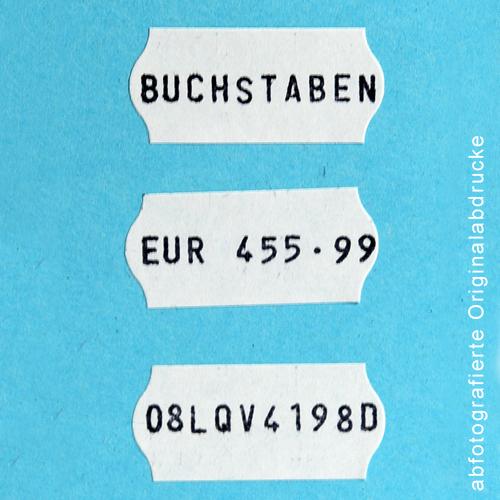 abfotografierte Stempelabdrucke des Blitz C10A Handauszeichners