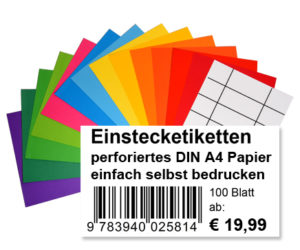 Einsteck-Etiketten