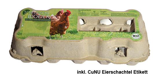 """Eier Schachtel Etiketten """"ökologische Erzeugung, Bio-Eier"""""""