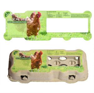 passgenaue Etiketten für Eierschachteln Omni-PAC TopView 10er - Motiv Freilandhaltung